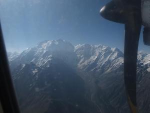 Nanga Parbat desade el avión
